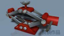 千斤顶3D模型