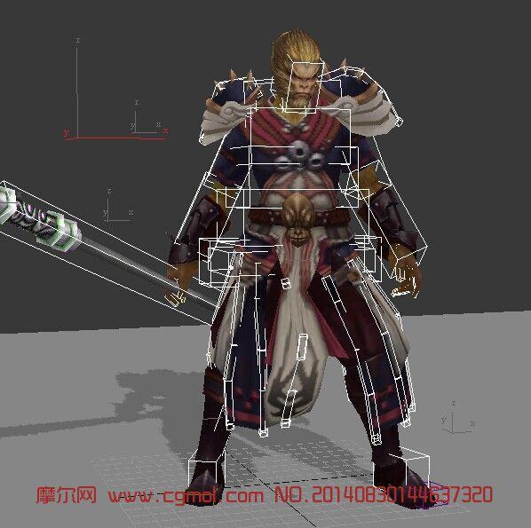 斗战神灵猴3D模型(带动作)