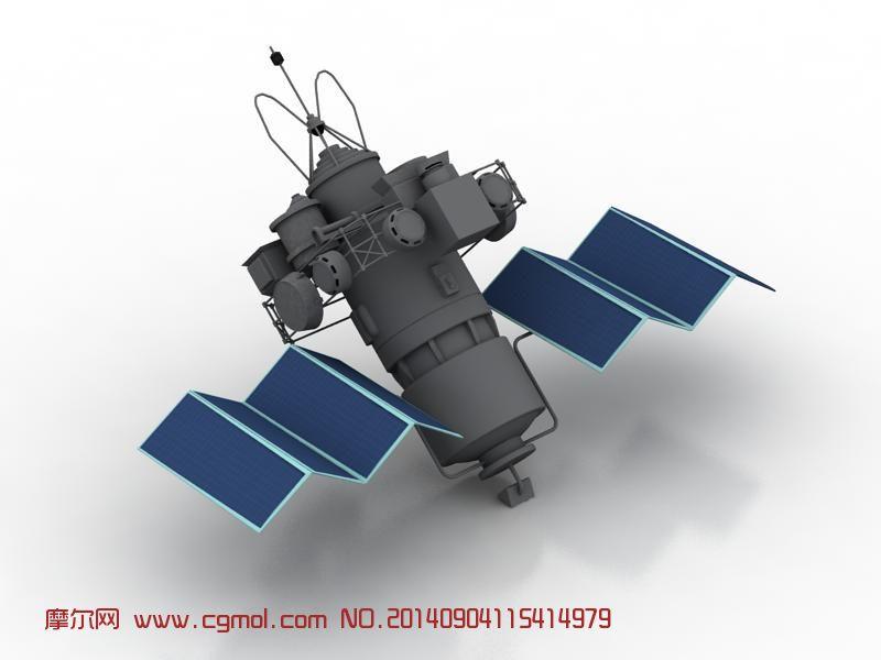 人造卫星,航天器3D模型