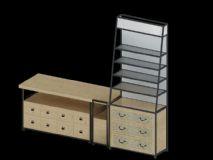 展览柜,橱柜模型