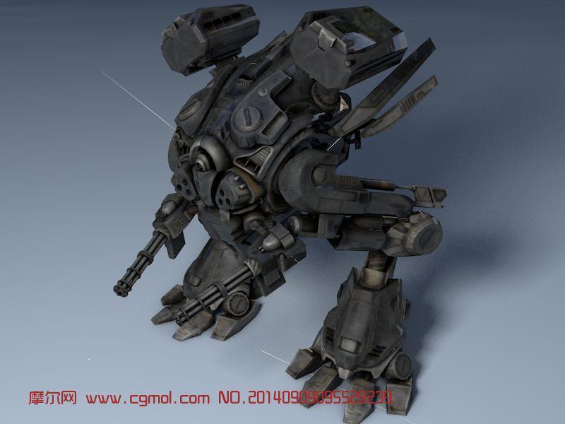 双足机器人3d模型_机械角色