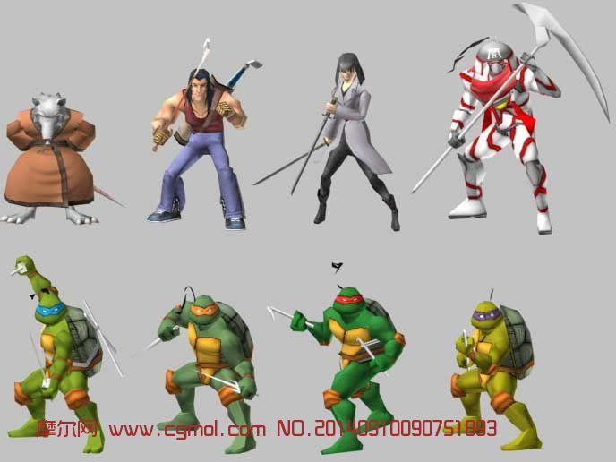 原创作品: 忍者神龟 游戏角色