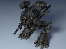 双足机器人3D模型
