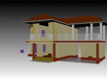 泰国风格建筑模型