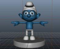 蓝精灵 maya模型