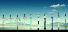 风光互补路灯 太阳能路灯模型