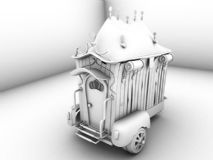 挺卡通的maya马车