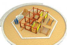 木制儿童娱乐设施组合