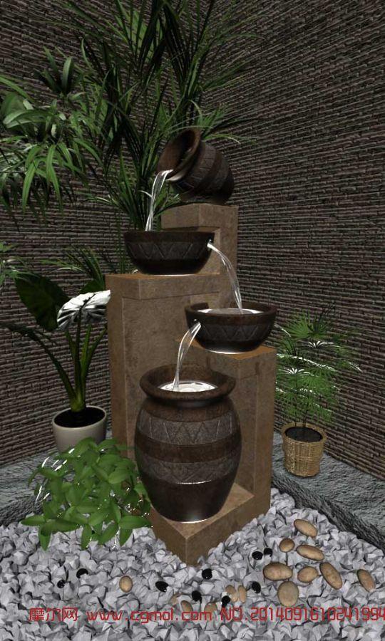 室内模型 室内家具  关键词:室内水装饰中式植物 作品描述:很漂亮~ 作