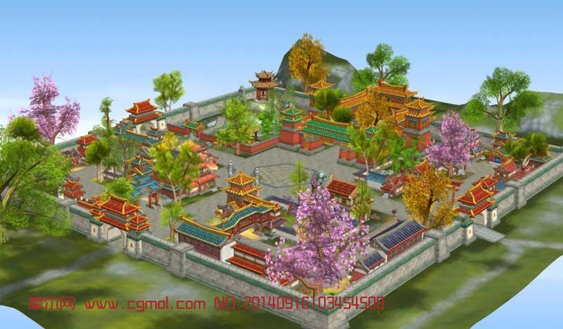 色彩明快的京城3D场景模型