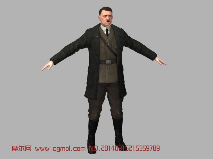 阿道夫希特勒的人物模型