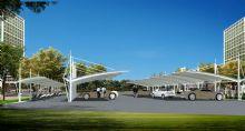 膜结构,遮雨棚,停车场设计