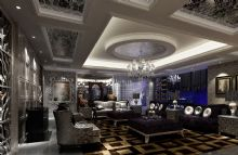 冷色调的情怀 奢华客厅设计