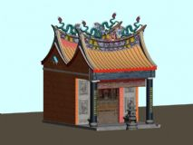 土地庙max模型