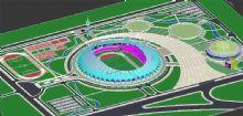 体育中心规划设计,足球场模型