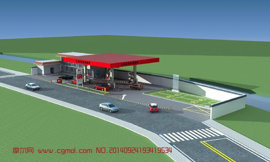 加油站整体设计,有细节