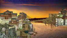 古建筑吊桥场景3D模型