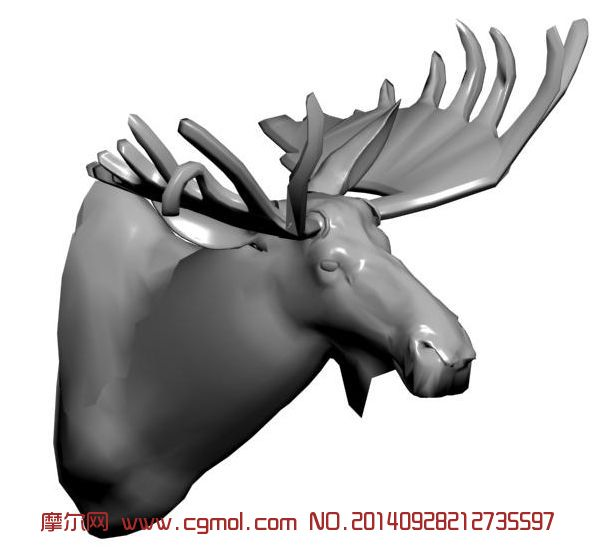 动物模型 哺乳动物  关键词:鹿驯鹿头部麋鹿