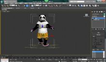 熊猫模型,有贴图走路动作