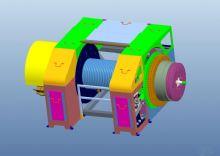 车装钻机绞车三维模型