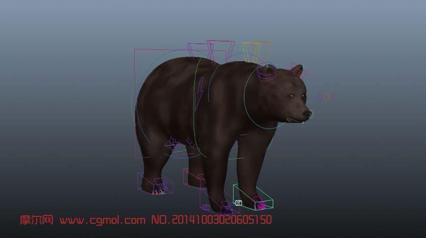 动物模型 哺乳动物  关键词:骨骼蒙皮哺乳动物绑定