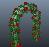 玫瑰拱门maya模型