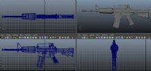 原创M4A1枪械,各种细节全齐