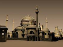 阿拉伯风格城堡精模
