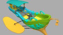 卡通飞船 自己制作的模型