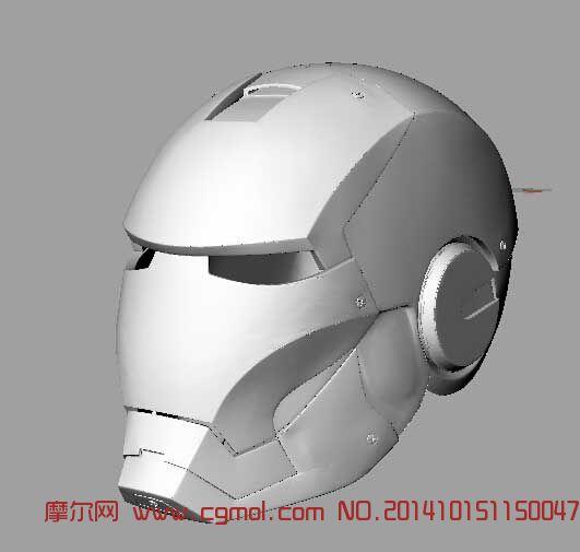 游戏角色 科幻角色  关键词:钢铁侠头盔面具 作品描述: 作者其他作品