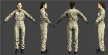 女士连衣裤,连体工作服