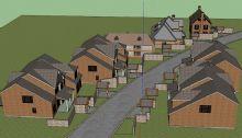 景观模型组 街道