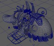鱼骨屋maya模型