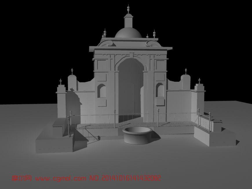国外别墅门头,房屋模型