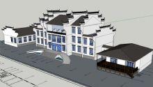 中式酒庄,会所建筑