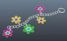 小花朵饰品 手链