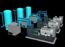 矿压站模型