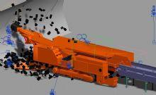 掘进机采煤模拟带动画