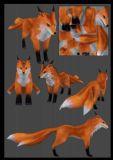 fox 三尾狐狸的模型