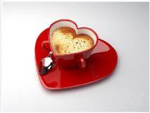心型咖啡杯