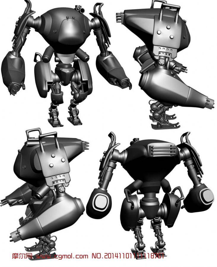 卡通机器人_雕塑角色_动画角色