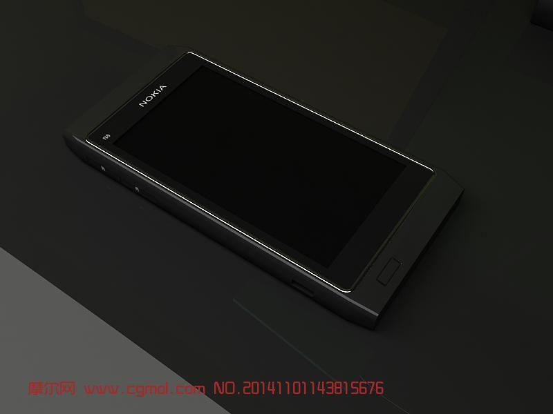 诺基亚N8手机精细模型