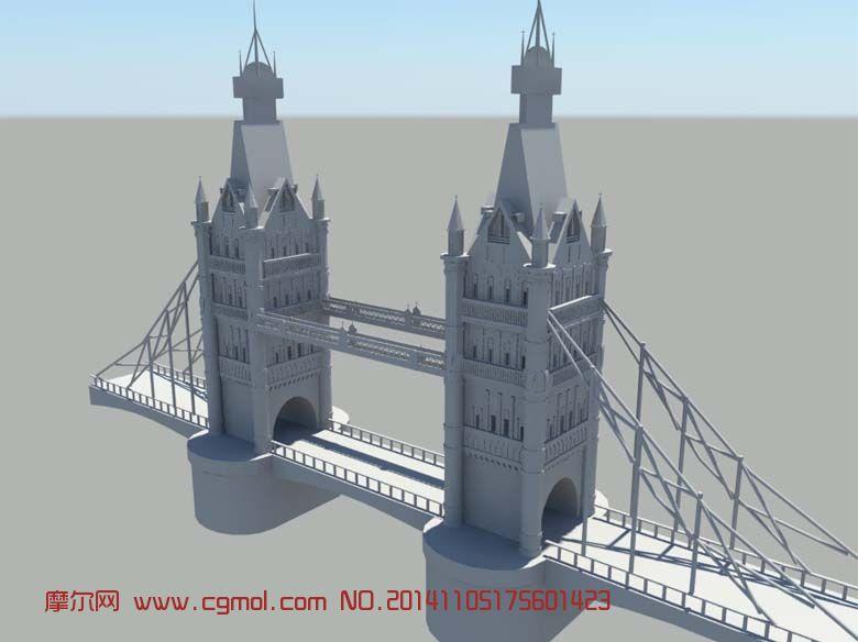 伦敦桥_现代场景_场景模型