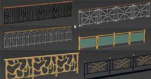 34款栅栏,护栏模型
