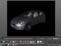 菲亚特Punto汽车3D模型