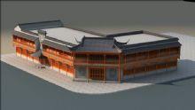 仿古式商场3D模型