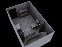 精美卫生间部分模型