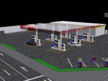 精美国外加油站建筑