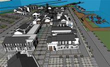 城市港口,游船码头模型