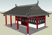 古建筑水榭模型